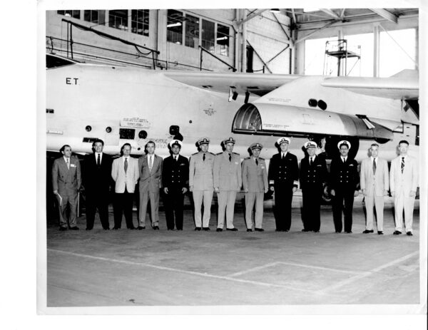 Douglas A-3 Skywarrior with Officials Standing in Front