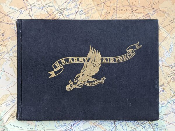 US Army Air Force Flight Log Cover