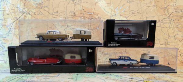 Four HO Scale Die Cast Automobiles