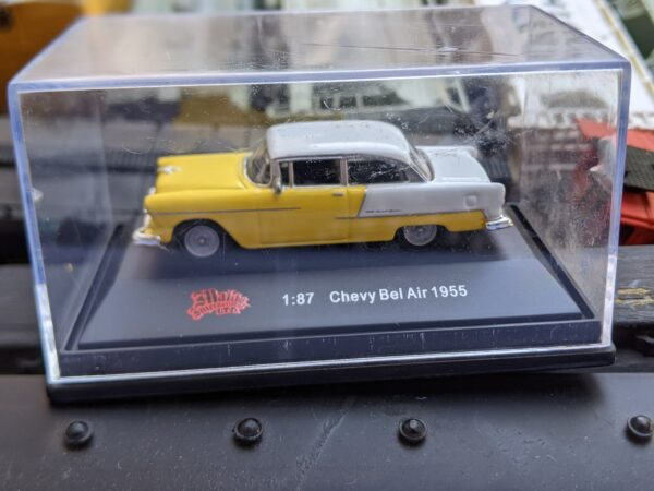 Diecast Yellow 1955 Chevy Bel Air