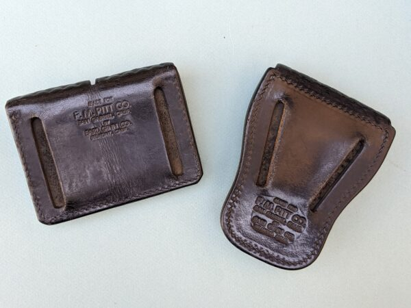 Black Leather Double Magazine Pouch and Handcuff Pouch (rear)