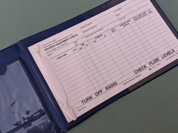 CHP-33 Vehicle Equipment Checklist