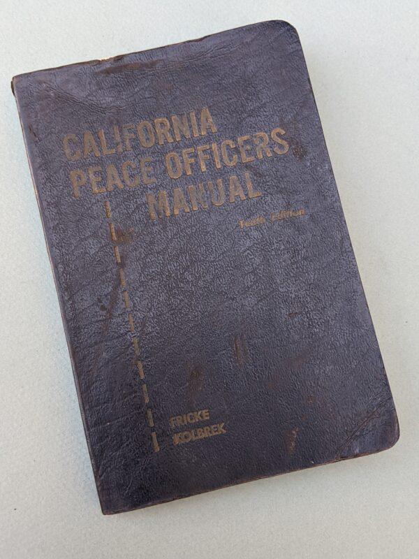 California Peace Officers Manual - 1960 (cover)